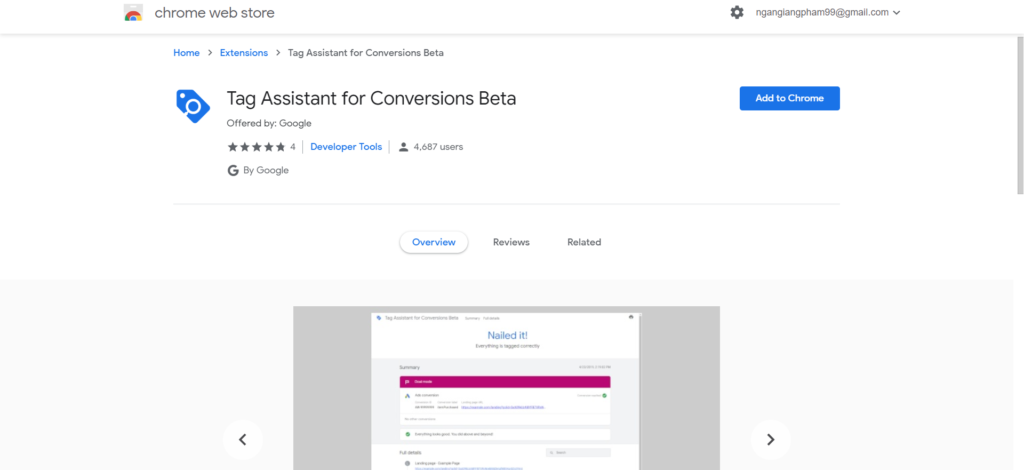 cai dat tag assistant for conversions beta 2